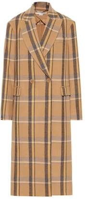 Stella McCartney Checked wool coat