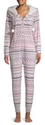 Kensie FairIsle Fleece Onesie