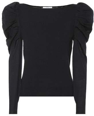 Co Cashmere puff-shoulder sweater