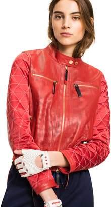 Tommy Hilfiger Leather Racing Jacket