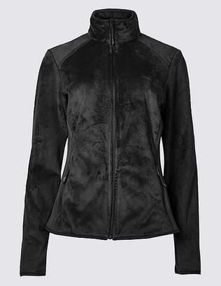Marks and Spencer Faux Fur Long Sleeve Fleece Jacket