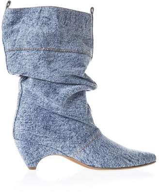 Stella McCartney Blu Ankle Boots In Denim