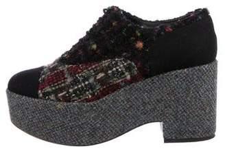 Chanel Tweed Platform Oxfords