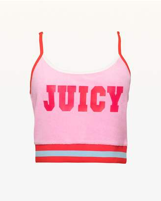 Juicy Couture JXJC Juicy Logo Microterry Crop Top