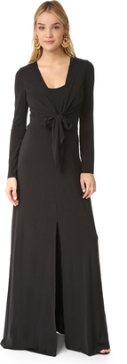 alice + olivia Salina Long Sleeve Gown $395 thestylecure.com
