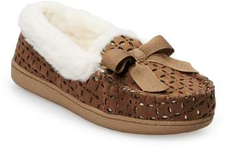Sonoma Goods For Life Women's SONOMA Goods for Life Perforated Microsuede Moccasin Slippers