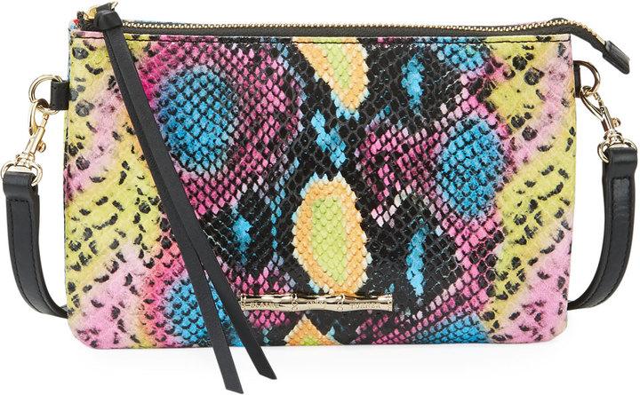 Elaine Turner Frankie Pop Python-Embossed Shoulder Bag