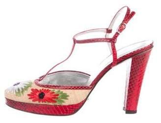 Dolce & Gabbana T-Strap Platform Sandals