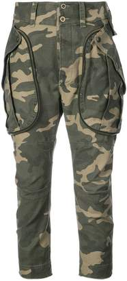 Faith Connexion camouflage cropped trousers