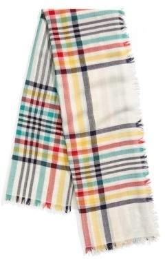 Hudson's Bay Company Oversized Tartan Wool Scarf