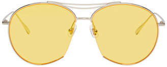39b9218e469 Gentle Monster Silver and Yellow Jumping Jack Sunglasses