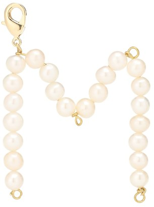 Timeless Pearly Letter M pearl-embellished charm