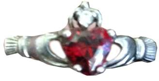 Claddagh Garnet and Diamond Ring