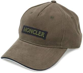 Moncler logo patch cap