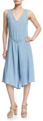 Joe's Jeans The Joni Culotte Jumpsuit, Blue $225 thestylecure.com