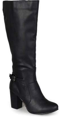 Co Brinley Wide Calf Buckle Detail High Heeled Boots