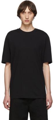 Lanvin Black Plaid Detail T-Shirt