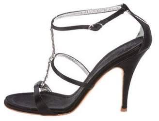 Giuseppe Zanotti Embellished Satin Sandals