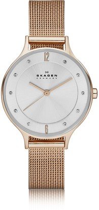 Skagen Anita Rose Goldtone Stainless Steel Women's Watch w/Mesh Bracelet Band