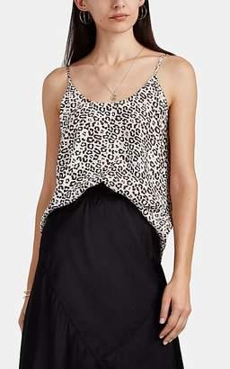 ATM Anthony Thomas Melillo Women's Leopard-Print Silk Satin Cami - Pink