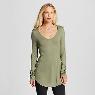 Women's Long Sleeve V-Neck Tee - Mossimo $15 thestylecure.com