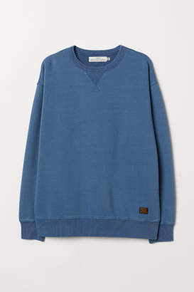 H&M Relaxed-fit Sweatshirt - Blue