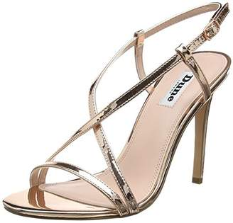Dune Women's Madeena Ankle Strap Sandals, (Rose_Gold-Synthetic), 41 EU
