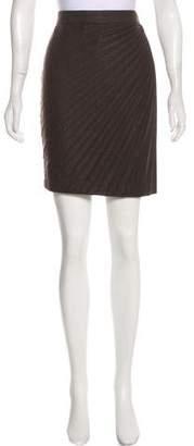 Blumarine Pleated Metallic Skirt