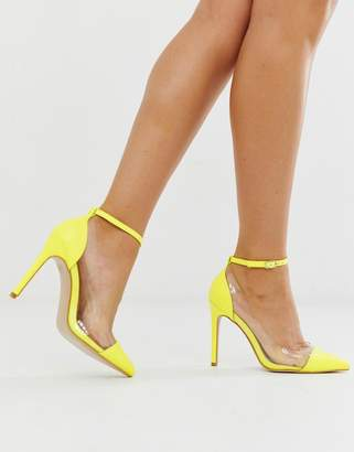 7daaf9ab8afe9 Public Desire Debut neon yellow court shoes