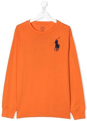 Ralph Lauren Kids TEEN logo embroidered T-shirt