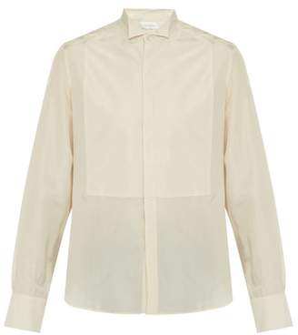 Wales Bonner Cufflink Embellished Silk Shirt - Mens - Beige