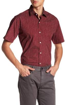 Tailorbyrd Triangle Short Sleeve Trim Fit Woven Shirt
