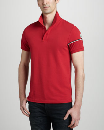Moncler Red Flag Polo