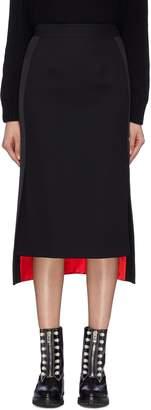 Alexander McQueen Stripe outseam contrast hem knit high-low skirt