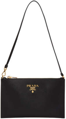 Prada Black Saffiano Pouch Bag