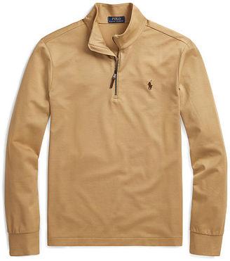 Polo Ralph Lauren Cotton Piqu Half-Zip Pullover $125 thestylecure.com