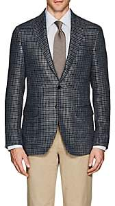 Caruso MEN'S PLAID LINEN-COTTON THREE-BUTTON SPORTCOAT