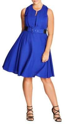 City Chic Plus Vintage Veronica Fit-and-Flare Dress