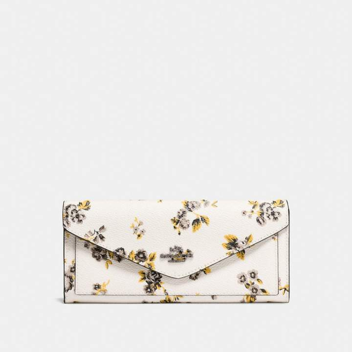 Coach New YorkCoach Soft Wallet With Prairie Print - PRAIRIE PRINT CHALK/DARK GUNMETAL - STYLE