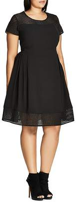 City Chic Sweet Texture Dress $89 thestylecure.com