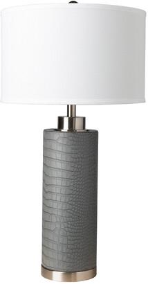 Surya Buchanan Grey & White Table Lamp