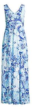 Lilly Pulitzer Women's Sloane V-Neck Floral Maxi Dress