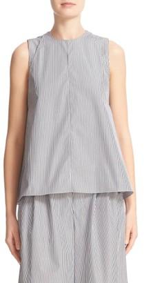 Women's Adam Lippes Stripe Cotton Layered Shell $450 thestylecure.com