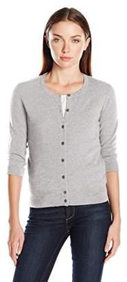 Lark & Ro Women's 100% Cashmere Soft Classic Cardigan Sweater