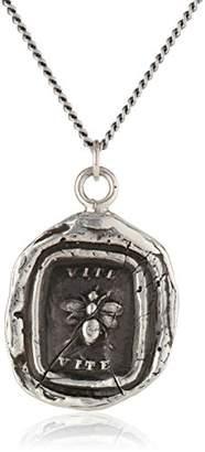 "Pyrrha talisman"" Sterling Vite Necklace"