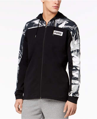 Puma Men's Rebel Colorblocked French Terry Zip Hoodie