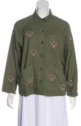 The Great Linen Blend Button-Up Jacket