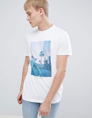 New Look T-Shirt With LA City Print In White