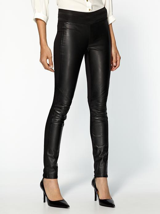 Paige Paloma Ponte Leather Leggings