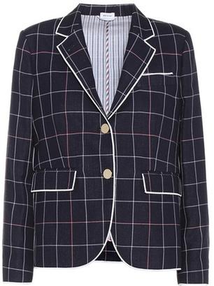 Button-front blazer